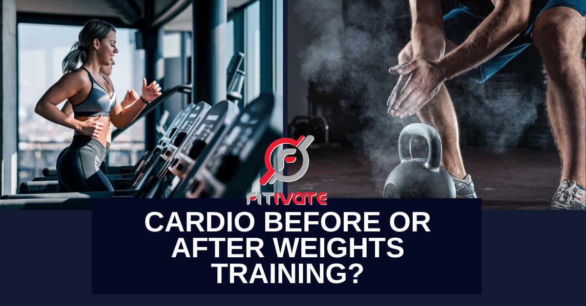 which first cardio or weights
